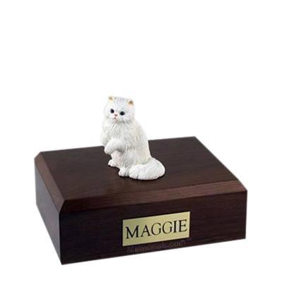 Persian White Paw Medium Cat Cremation Urn