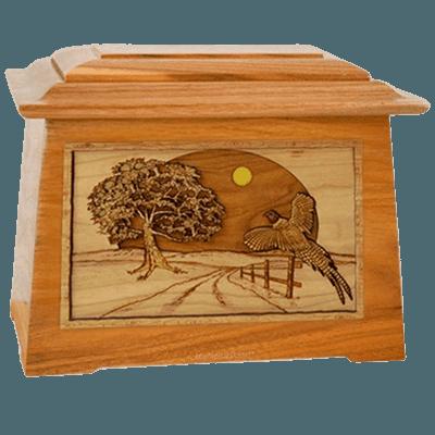 Pheasant Mahogany Aristocrat Cremation Urn