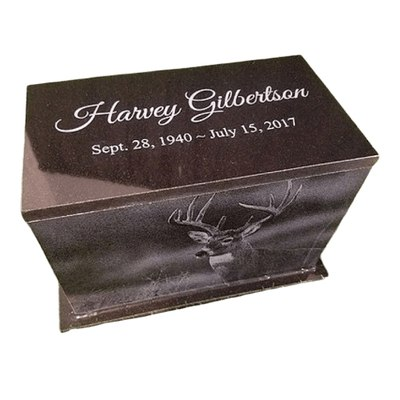 Picture Granite Cremation Urn