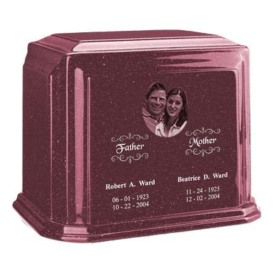 Picture Raspberry Marble Urn For Two