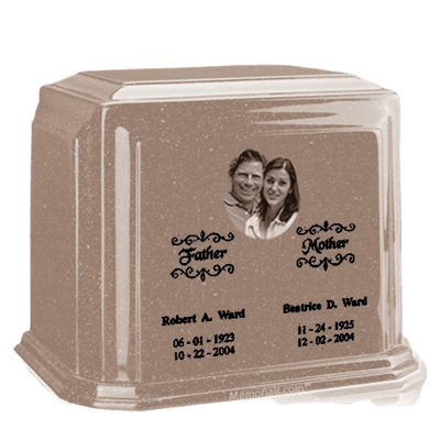Picture Sand Marble Urn For Two