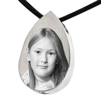 Picture Tear Cremation Pendant