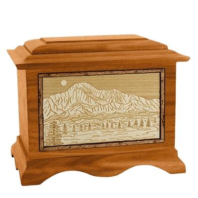 Pikes Peak Mahogany Cremation Urn