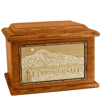 Pikes Peak Mahogany Memory Chest Cremation Urn