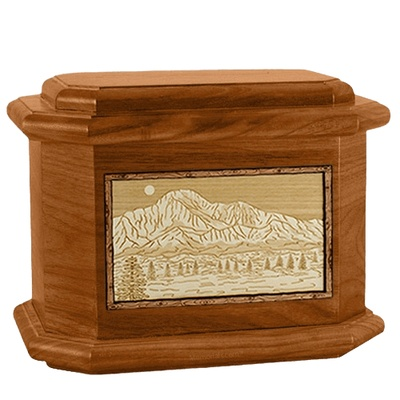 Pikes Peak Mahogany Octagon Cremation Urn