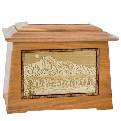 Pikes Peak Oak Aristocrat Cremation Urn