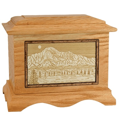 Pikes Peak Oak Cremation Urn