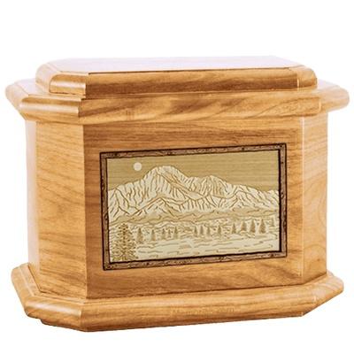 Pikes Peak Oak Octagon Cremation Urn