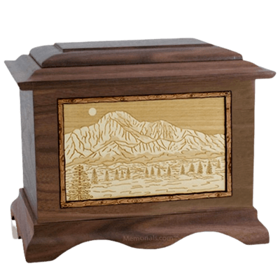 Pikes Peak Walnut Cremation Urn