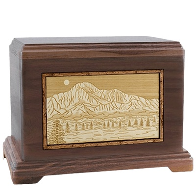 Pikes Peak Walnut Hampton Cremation Urn