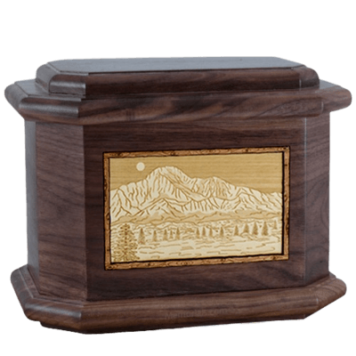 Pikes Peak Walnut Octagon Cremation Urn