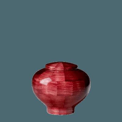 Pink Keepsake Wood Urn