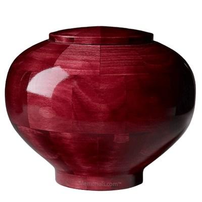 Pink Large Wood Urn