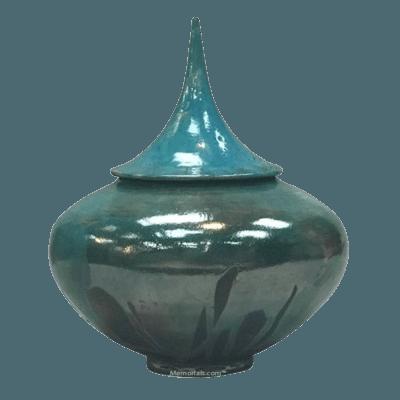 Pinnacle Raku Cremation Urn