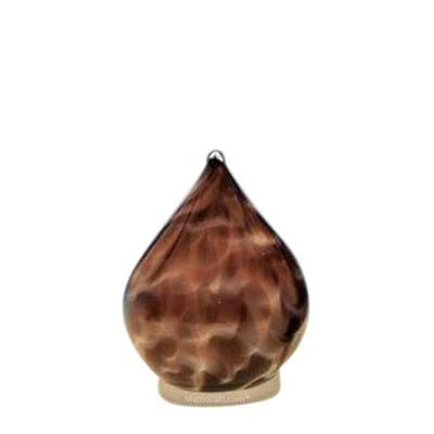 Plum Tear Small Glass Pet Urn