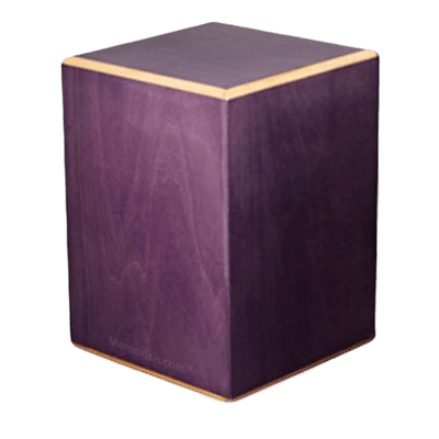 Plum Wood Cremation Urn