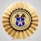 Police Officer Sunburst Medallion Appliques