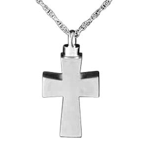 Polished Cross Keepsake Pendant