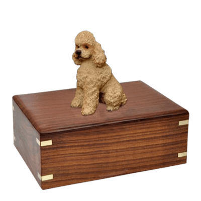 Poodle Apricot Sport Cut Large Doggy Urns