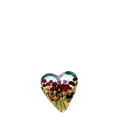 Poppy Glass Heart Keepsake