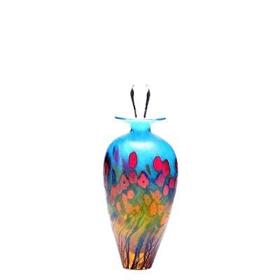 Poppy Glass Keepsake Cremation Urn