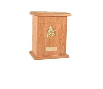 Praha Wood Cremation Urn