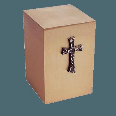 Praise Cross Bronze Cremation Urn