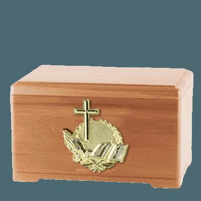 Prayer Light Cherry Cremation Urn