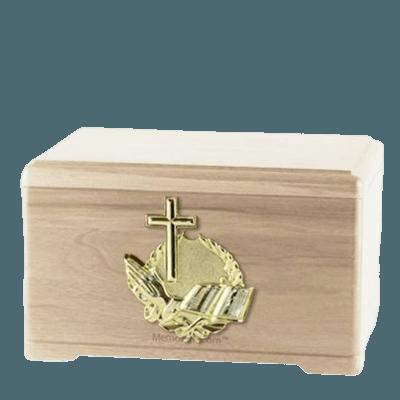Prayer Maple Cremation Urn