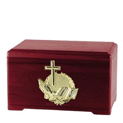 Prayer Rosewood Cremation Urn