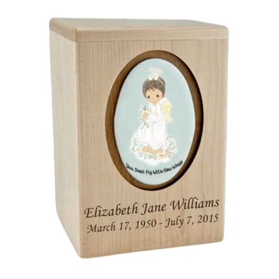 Precious Moments African American Girl Child Urns