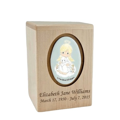 Precious Moments Blonde Boy Small Child Urn