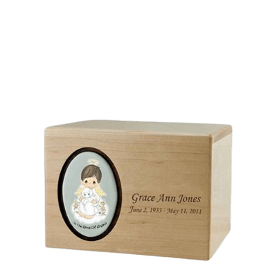Precious Moments Brunette Boy Small Urn