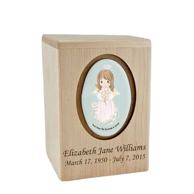 Precious Moments Brunette Girl Small Child Urn II