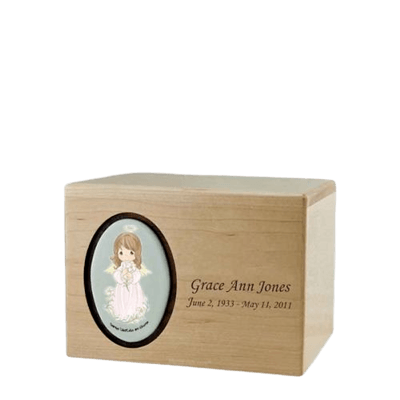 Precious Moments Hispanic Girl Small Urn II