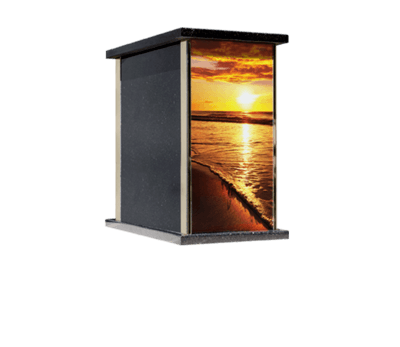 Prim Ocean Sunset Cremation Urn