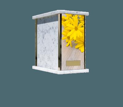 Prim Flowers Cremation Urn