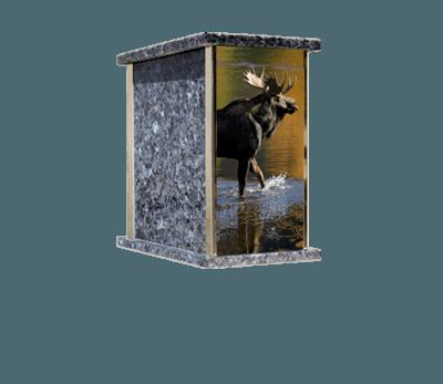 Prim Moose Cremation Urn