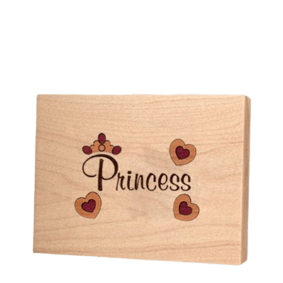Princess Children Keepsake Wood Urn
