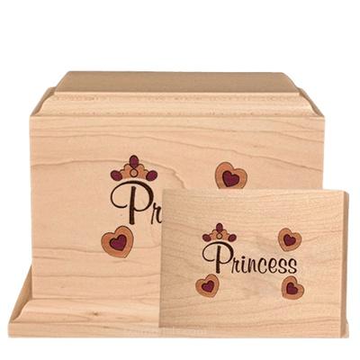 Princess Children Wood Cremation Urns