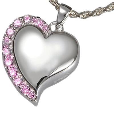 Princess Heart Cremation Pendant