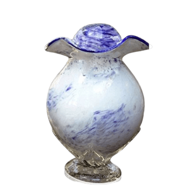 Purple Cloud Glass Cremation Urn