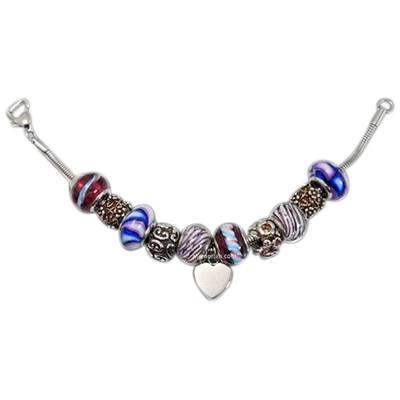 Purple Heart Cremation Bracelet