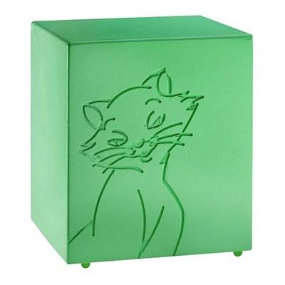 Purring Green Cat Urn