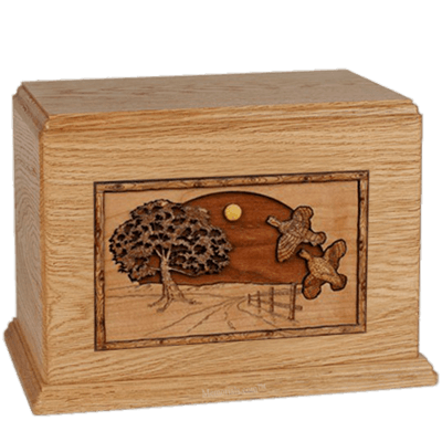 Quail Oak Companion Urn