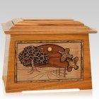 Quail Mahogany Aristocrat Cremation Urn