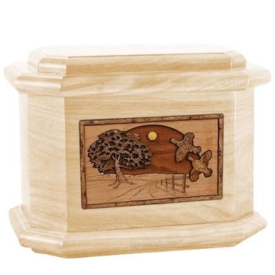 Quail Maple Octagon Cremation Urn