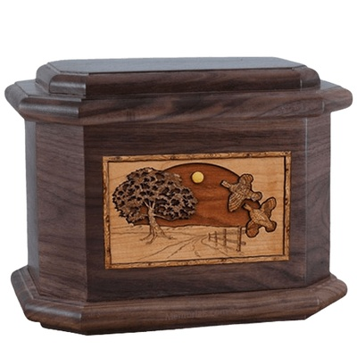 Quail Walnut Octagon Cremation Urn