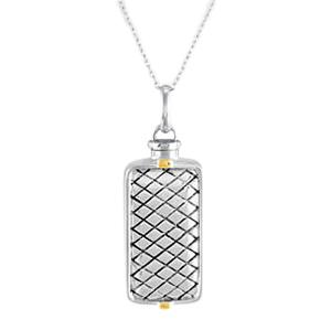 Checkered Cremation Keepsake Pendant