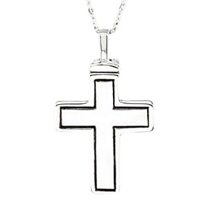Simplicity Cross Keepsake Pendant
